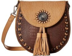 M&F Western Kinsey Crossbody Messenger Bags Brown/Tan Small Leather Bag, Leather Pouch, Leather Crossbody Bag, Leather Purses, Leather Handbags, Leather Bag Tutorial, Leather Bag Pattern, Burlap Bags, Leather Bags Handmade