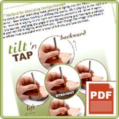 PRODUCT TIP PDF: Tilt n' Tap Method - Using Design Stamps