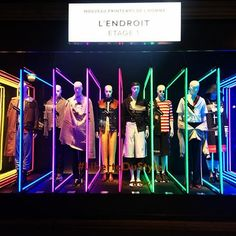 """LE PRINTEMPS, Paris, France, """"Le superflu m'est absolument nécessaire. C'est génétique"""", ( The New Menswear Department L'Endroit Level 1), photo by the Window Lover, pinned by Ton van der Veer"""