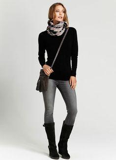 Charcoal Suede Wedge Long Boots #relaxedglamourxmas Long Boots Outfit, Winter Boots Outfits, Casual Outfits, Cute Outfits, Wedge, Charcoal, Clothes For Women, Womens Fashion, Black