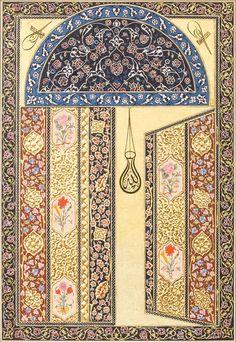 Müzehhibe: Sema Yekeler Yurtseven  Kalemişi-Tezhip-Tarama-Çin deseni