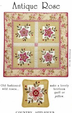 I like the poinsettia version shown below Wild Roses  this site sells patterns I like