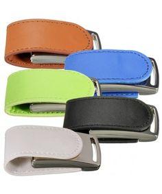 Mini Leather Metal USB Flash Drive 32GB