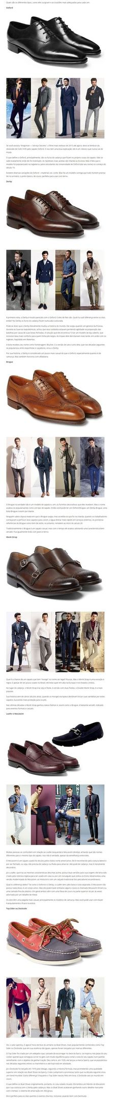 Sapatos masculinos - Guia de como usar