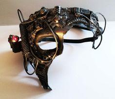 Borg star trek cosplay cyberpunk mask large, by richardsymonsart on Etsy
