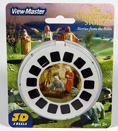 Viewmaster Reel Set Of 3 Christmas Story From The Bible, 2015 Amazon Top Rated Viewfinders #Toy
