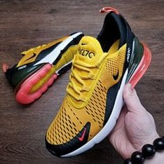 new styles d4811 b0c02 Men s Nike Air Max 270 Casual Shoes Yellow Black