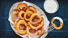 Onion Rings, Dip, Ethnic Recipes, Food, Salsa, Essen, Meals, Yemek, Onion Strings