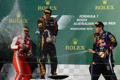 2013 Australia - Kimi Raikkonen, Fernando Alonso & Sebastian Vettel