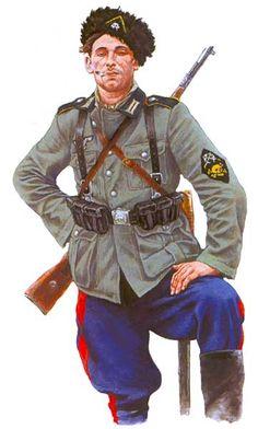 WEHRMACHT - Soldato del Reggimento di Cavalleria cosacca von Yungshultsa, 1942-1943