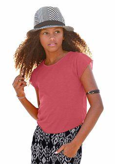Produkttyp , T-Shirt, |Farbe , rot-meliert, |Materialzusammensetzung , Obermaterial: 65% Polyester, 35% Viskose, |Passform , Basic-Form, |Schnittform/Länge , gerade, |Ausschnitt , Rundhals, |Ärmelstil , Kurzarm, |Armabschluss , Kante abgesteppt, |Saumabschluss , abgerundet, |Pflegehinweise , Maschinenwäsche, |Auslieferung , liegend, | ...