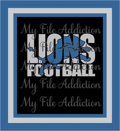 Lions Football Knockout Instant Download SVG EPS Vinyl Design File by MyFileAddiction