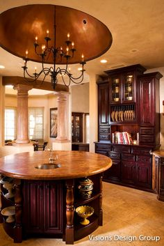 Most current Screen round kitchen island Concepts For most people, the most perfect kitchen area is not finish without an ideal kitchen area island. Kitchen Interior, Kitchen Design, Kitchen Decor, Kitchen Ideas, Round Kitchen Island, Kitchen Islands, Luxury Kitchens, Home Kitchens, Interior Decorating