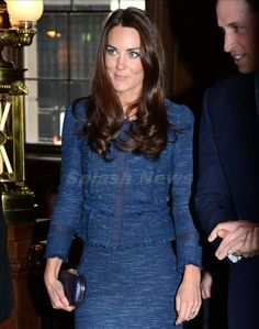 Kate Middleton Rebecca Taylor jacket - love this blue!