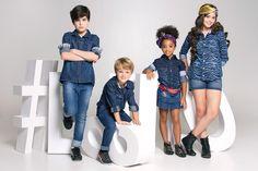 Editorial Jeans para Brascol Atacado; produzido pela MP Agência da Moda. #kids #denim #fashion #models #color #agenciadamoda