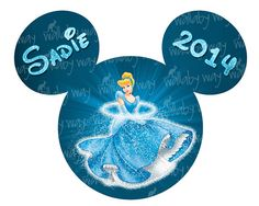 Disney Cinderella Printable Iron On Transfer or Use as Clipart by TheWallabyWay, Perfect for a Trip to Disney or Cinderella Birthday Party