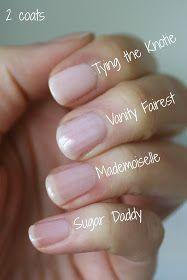 Tying Sheer Nail Polish, Essie Nail Polish Colors, Pink Nail Colors, Natural Nail Polish, Nail Polish Designs, Clear Pink Nail Polish, Nail Polishes, Natural Nails, Neutral Colors