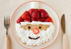 Christmas / Santa pancakes.