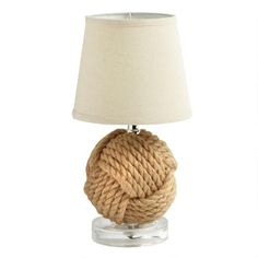 """One of my favorite discoveries at ChristmasTreeShops.com: 14"""" Nautical Knot Table Lamp"""