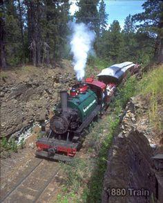 1880 train, Hill City, South Dakota - only train of this era still in operation. Beautiful ride!