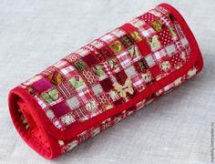 Sew practical textile pencil technique patchwork mosaic. Tutorial in pictures.