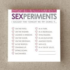 Sexy Gag Gift Sticky Notes Under 10 Sexperiments by FlytrapOnE, $5.00