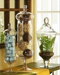 Tall Slim Gl Bonbon Or Apothecary Jar