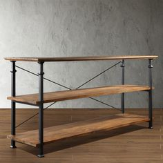 TRIBECCA HOME Industrial TV Stand | Overstock.com Shopping - Great Deals on Tribecca Home Media/Bookshelves
