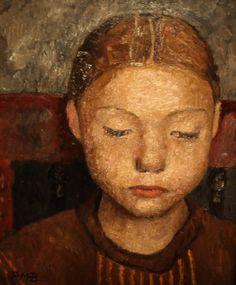 Tête d'une jeune fille assise sur une chaise, 1905  -  Paula Modersohn-Becker