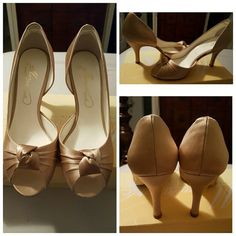 David's Bridal Heels Michaelangelo bridal heel, 100% Silk, new never worn, in box David's Bridal Shoes Heels