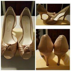 Selling this David's Bridal Heels on Poshmark! My username is: andreallmoore. #shopmycloset #poshmark #fashion #shopping #style #forsale #David's Bridal #Shoes