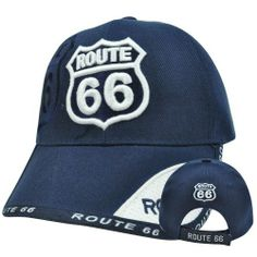 "Historic State Road Route 66 Sixty First Highway Sign America Velcro Hat Cap by Sports Cap. $12.99. Adjustable; 100% Acrylic; Velcro; Official Licensed Product; Brand New Item with Tags. Show your passion for America's historic and valuable Route 66 highway. Route 66 highway symbol embroidered on front panel. Route 66 highway symbol embroidered on back panel. ""Route 66"" embroidered on woven label on back closure. Adjustable velcro closure. One size fits most."