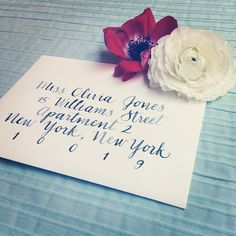 Modern calligraphy, always a special touch to any invitation