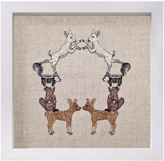 Coral and Tusk - deer wreath artwork