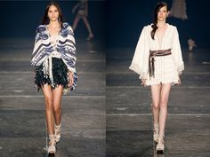 Two Viking-inspired outfits from Patricia Bonaldi
