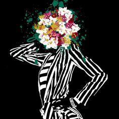 Stripes&Flowers part II #stripes #flowers #fashion #fashionillustration #illustration #draw #drawing #style #monicaruf #society6