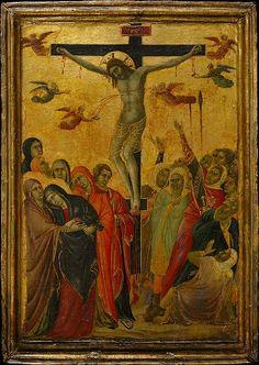 The Crucifixion  --  Circa 1315  --  Segna di Buonaventura  --  Italian  --  Tempera on panel  --  The Metropolitan Museum of Art