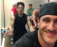 Sebastian and Don at spin class. 11/29/16