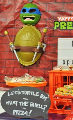 Teenage Mutant Ninja Turtles Party Decor & DIY's. #fun365 #kidsparty #partyideas #parties #teenagemutantninjaturtles #party