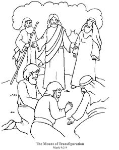 Mount of Transfiguration - Coloring Page