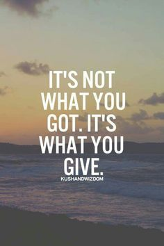 There is greater happiness in giving....