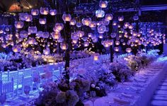 ༺✿* Wedding Ideas*✿༻Beautiful Table capes With Wildflowers And Floating Candles. Quince Themes, Quince Decorations, Quinceanera Decorations, Wedding Decorations, Quince Ideas, Decor Wedding, Boho Wedding, Enchanted Forest Quinceanera Theme, Enchanted Forest Wedding