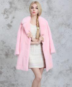 Aliexpress.com: Compre 2015 inverno nova coreano mulheres do falso casaco de pele, Colarinho rosa alta qualidade mink casacos moda roupas quentes de confiança casaco da moda fornecedores em Angel Clothing-number one