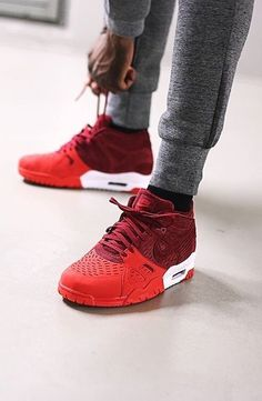 check out bd65e 22cf6 Nike Air Trainer 3 Leather Team Red