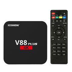 V88 RK3229 Más Inteligente Android 6.0 TV Box Quad Core XBMC KODI 16.1 UHD 4 K Cajas TV HDMI 2 GB 8 GB WiFi HD Media Player Set top caja