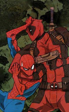 Spiderman x Deadpool #Spideypool