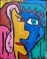 One of my favorite student pieces inspired by Picasso Pablo Picasso, Picasso Cubism, 3rd Grade Art Lesson, Picasso Portraits, Spanish Art, Art Lessons Elementary, Arts Ed, Art Lesson Plans, Art Classroom