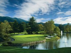 Greenbrier Resort, White Sulphur Springs WVA ~ Meadows and Greenbrier Courses (Meadows pictured above)