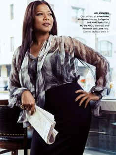 """divalocity: """" A Queen Among Us: Queen Latifah Essence Magazine November 2014 and her previous covers. Photos Credit: Nino Muñoz Styling: Timothy Snell Hair: Iasia R. Looks Plus Size, Curvy Plus Size, Plus Size Women, Queen Fashion, Curvy Fashion, Girl Fashion, Plus Size Fashionista, Black Celebrities, Celebs"""