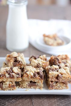 Chocolate Chip Caramel Cookie Bars {Egg-Free} | Mel's Kitchen Cafe